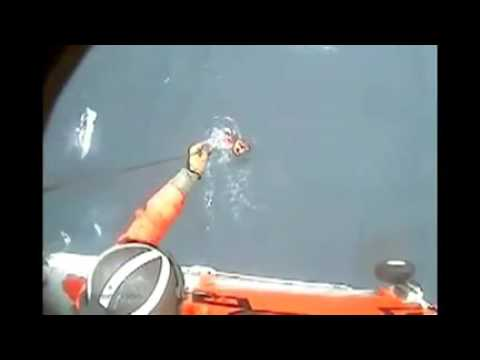 Coast Guard Hoists Sailor In Distress In Heavy-climate Rescue.