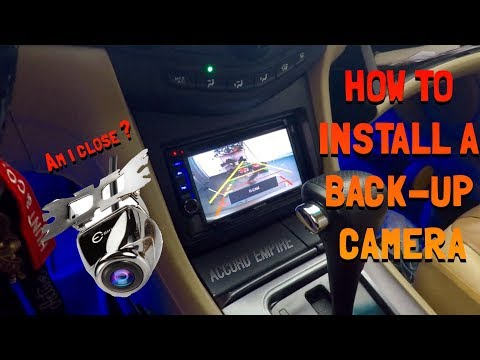 How to Install a Back up Camera in a Honda Accord