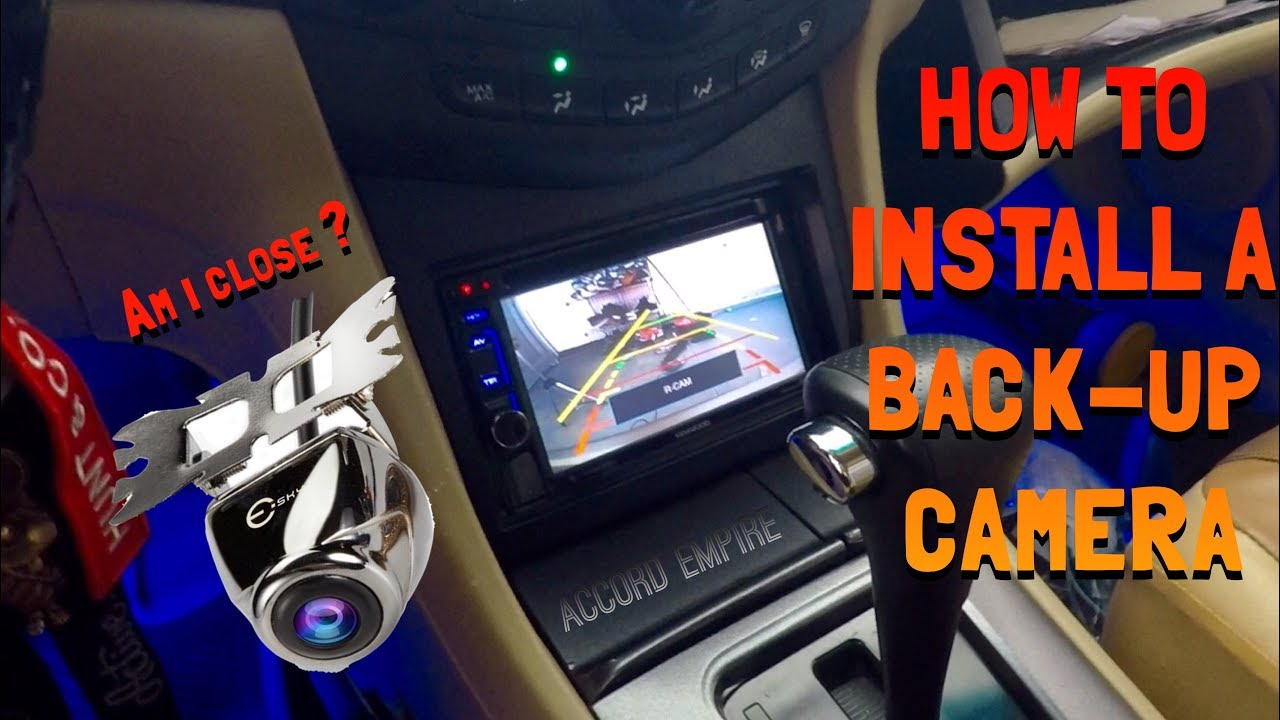 How to Install a Back up Camera in a Honda Accord  YouTube