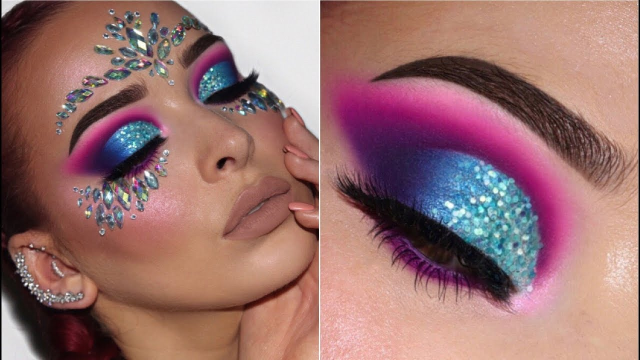 b526a9c9ae6 FESTIVAL INSPIRED MAKEUP TUTORIAL | Colourful & Glittery - YouTube
