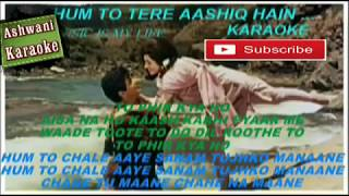 Hum To Tere Aashiq Hai Karaoke with female voice