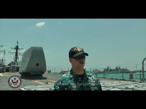 MALABAR 2017: A Tour of The USS PRINCETON