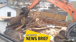 Asbestos in demo'd house