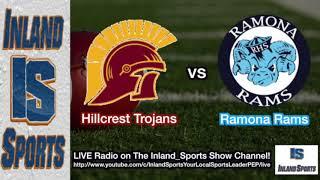 FOOTBALL: Hillcrest vs. Ramona Radio Broadcast