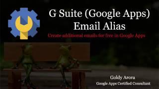 G Suite e-Posta Diğer Adı - G Suite içinde ücretsiz birden çok e-posta Oluşturmak ve paradan tasarruf