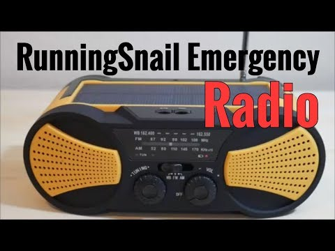 RunningSnail Emergency Solar Radio With Crank Charger, SOS, NOAA Weather Alerts, And Flashlight