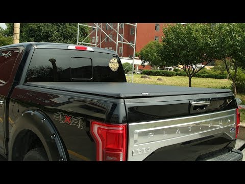 Us Patented Tri Fold Truck Bed Tonneau Cover Review Install