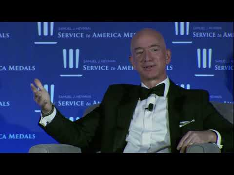 Jeff Bezos and Michael Lewis Fireside Chat - Sammies 2018