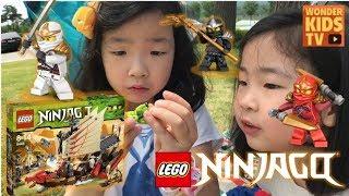 [재이 & 지수 vlog] 야외에서 레고 닌자고 만들기 가족 소풍 나들이 피크닉  lego nijago l vlog l picnic