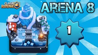 LEVEL 1 In ARENA 8! DESTROYING HIGHER LEVELS With LEGENDARY CARDS! | Clash Royale