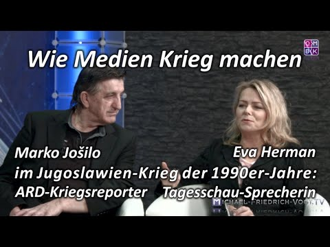 Wie Medien Krieg machen. Marko Jošilo und Eva Herman im Interview bei Michael Vogt