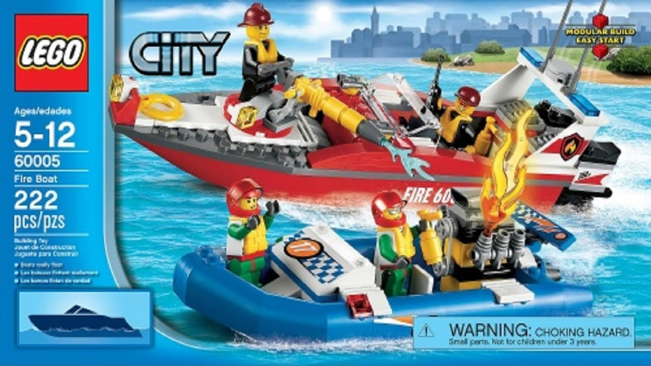 Lego City Instructions For 60005 Fire Boat Youtube