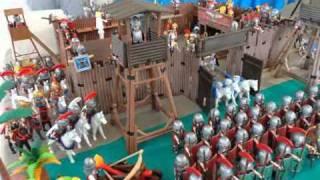 Diorama Playmobil: Romanos x Bárbaros