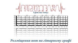 Розташування нот на гітарному грифі