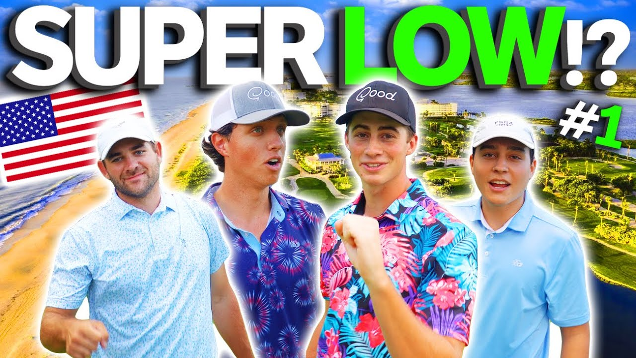 Download #1 Par 3 Course In THE USA | 4 Man Scramble | How Low Can We Score?!