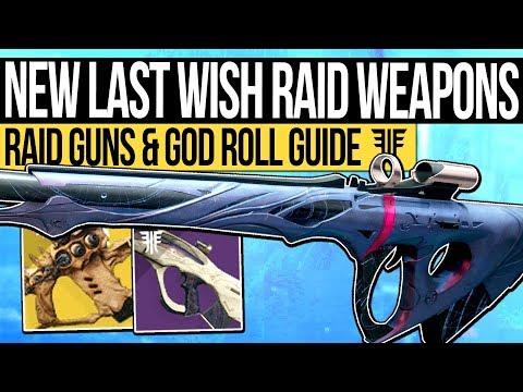 Destiny 2   NEW DLC RAID WEAPONS! Last Wish Weapons, God Roll Guide & Raid Exotic Weapon! thumbnail