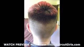 bald fade Short Haircut Girls bald fade
