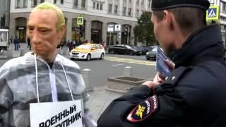Московская полиция задержала Путина в тюремной робе