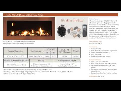 Sierra Flame - The Stanford 55 – Direct Vent Linear Gas Fireplace