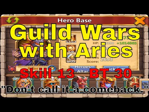 Castle Clash Guild Wars With Aries At Skill 13 And BT 30 (14,514 Points)