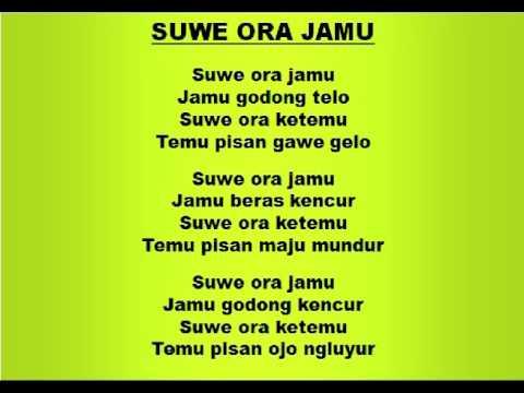 Lagu dan Tari Nusantara: SUWE ORA JAMU - Lagu Anak