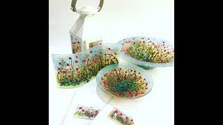 Fused Glass Poppy Murrine Projects