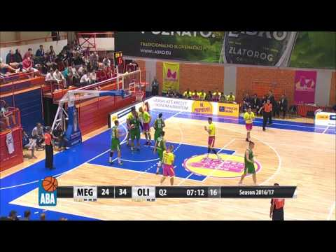 ABA Liga 2016/17 highlights, Round 1: Mega Leks - Union Olimpija (29.9.2016)