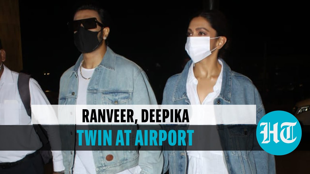 Download Watch: Ranveer Singh, Deepika Padukone twin at airport as they jet out of Mumbai