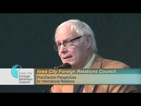 Iowa City Foreign Relations Council Presents: Post-Election Perspectives for International Relations