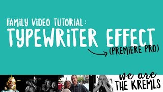 Download How To Create A Typing Effect In Premiere Pro Cc Videos