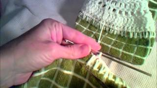 Crocheted Dish Towel Topper - Base Row(, 2014-08-12T14:26:15.000Z)