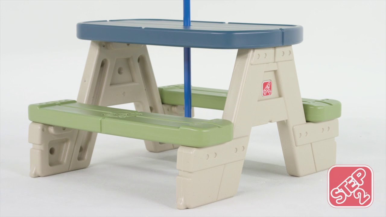 Step2 sit play picnic table with umbrella kids outdoor furniture step2 sit play picnic table with umbrella kids outdoor furniture watchthetrailerfo