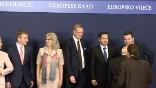 Meeting of the Competitiveness Council (COMPET) - Brussels, 26.05.2014 - Family photo (Space)