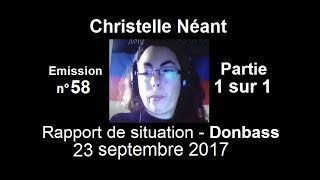 Christelle Néant Donbass SitRep n°58 ~ 23 septembre 2017 partie 1/1