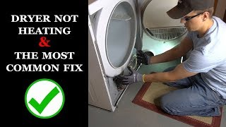 Dryer Not Heating and The Most Common Fix