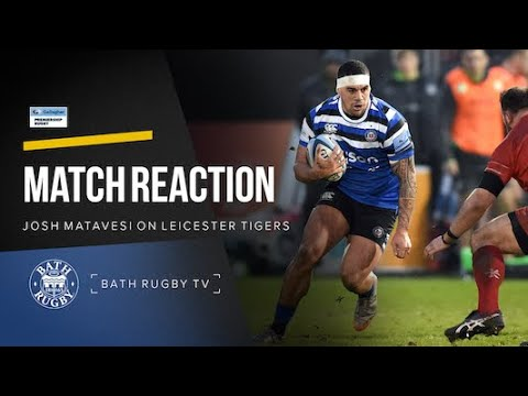 Post-match - Bath Rugby v Leicester Tigers - Josh Matavesi