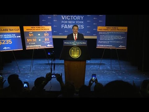 Governor Cuomo Announces Minimum Wage Increases and Paid Fam