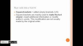 Grammar Presentation - Parentheses and Square Brackets