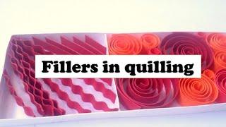 Fillers in quilling- how to fill in spaces with quilling