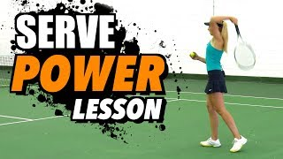 Serve POWER lesson: ADD 5-10mph to your serve!
