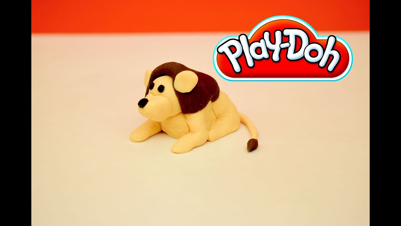 Play-Doh Lion - How to make a Play-Doh Lion step-by-step