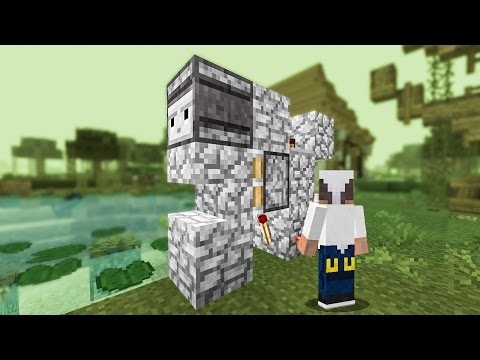 Minecraft Building w/ BdoubleO :: Redstone vs. Bdubs