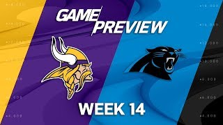 Minnesota Vikings vs. Carolina Panthers   NFL Week 14 Game Preview   Move the Sticks 2017 Video