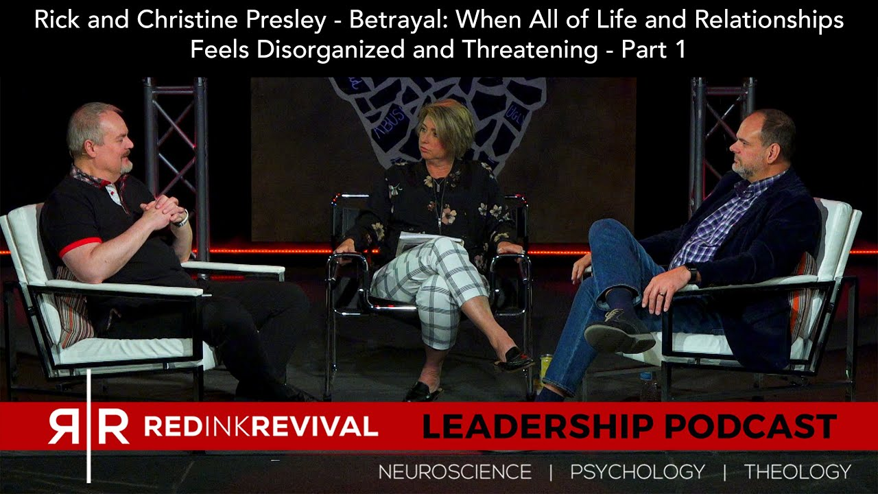 70. Rick & Christine Presley–Betrayal: When Life & Relationships Feel Disorganized & Threatening–Pt1