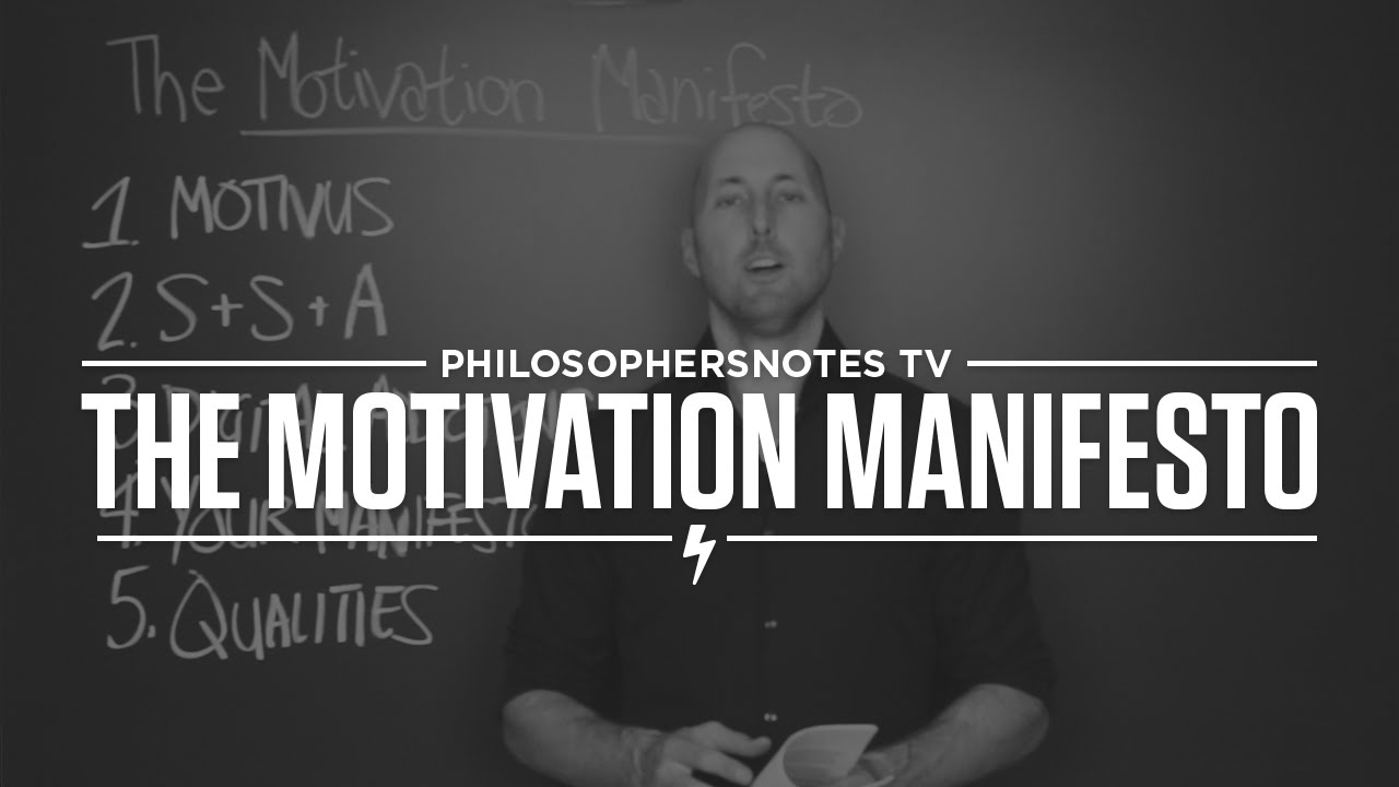 The Motivation Manifesto by Brendon Burchard - YouTube