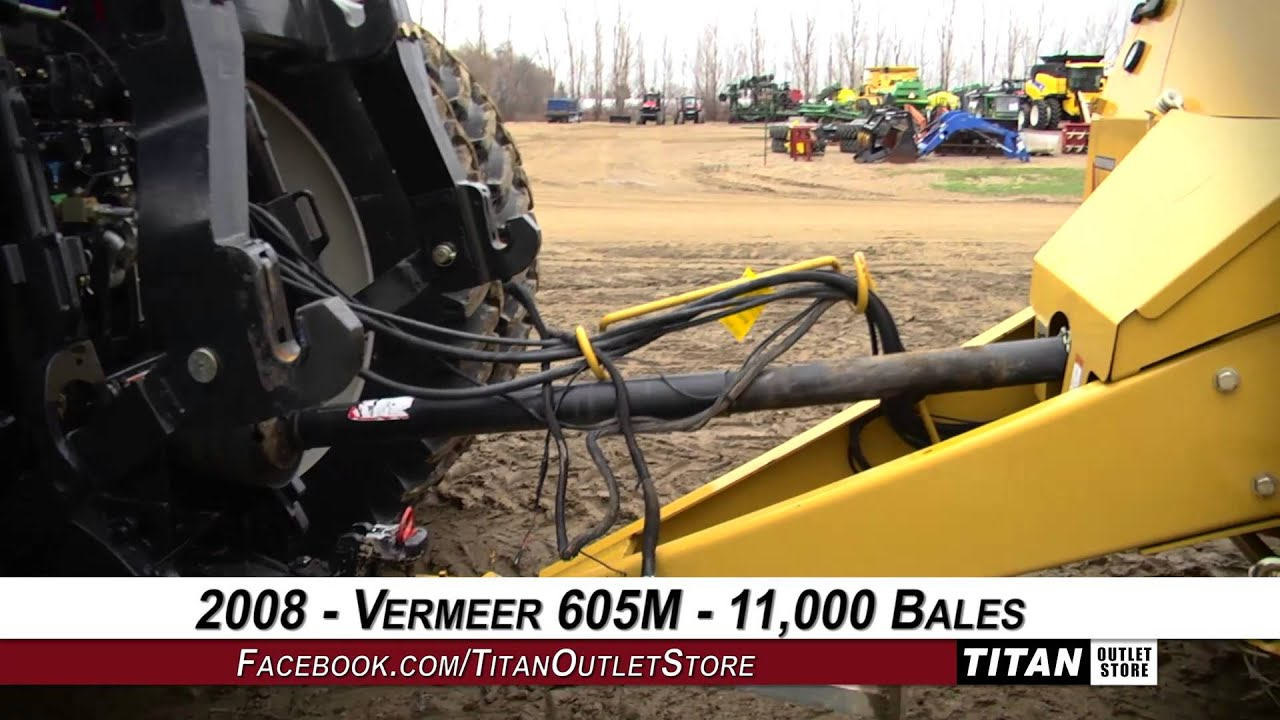 605c vermeer round baler good or bad - Vermeer 605m Netwrap Wide Pickup Hi Float Tires Baler Round Sold On Els