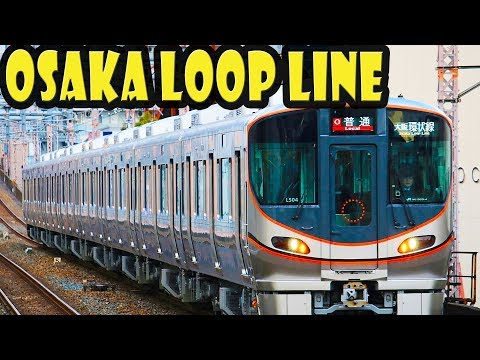 Riding the JR Osaka Loop Line - 5 minutes in 4K