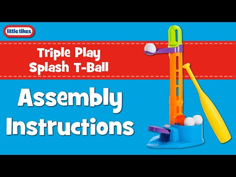 Little Tikes Triple Play Splash T-Ball Assembly Instructions Video
