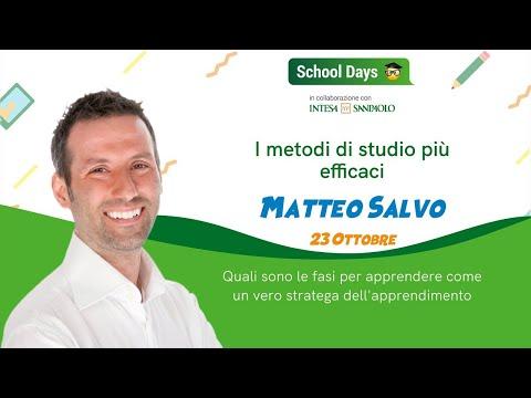 I metodi di studio più efficaci - School Days Webinar | Matteo Salvo