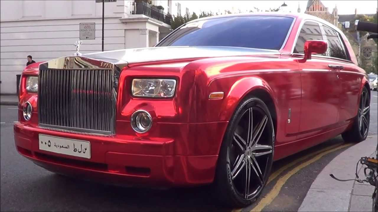 Rolls Royce Ghost >> Red Chrome Arab Rolls-Royce Phantom Combos and Driving in ...